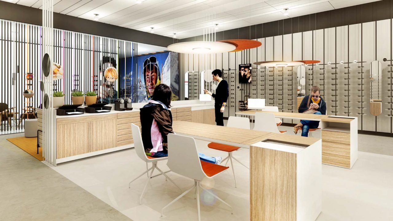 The humanization of optical stores through space design