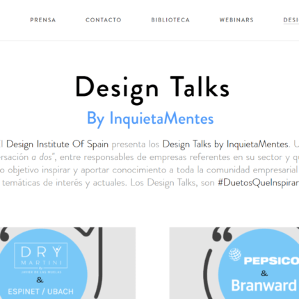 Grup Idea will participate in the Design Talks of the Design Institute of Spain
